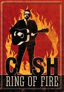 Metal Card 10x14 Johnny Cash - Ring of Fire Ref. : NA10243