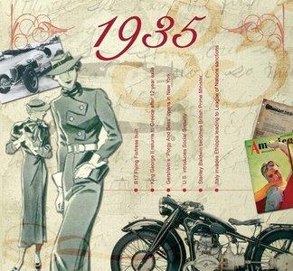 Kaart en CD geboortejaar 1935