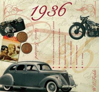 Kaart en CD geboortejaar 1936