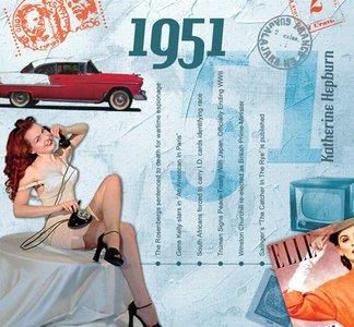 Kaart en CD geboortejaar 1951