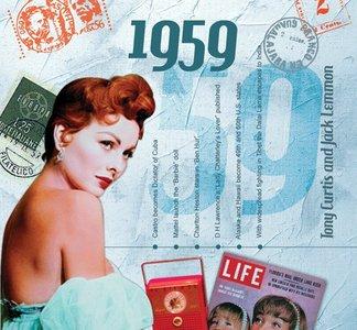 Kaart en CD geboortejaar 1959