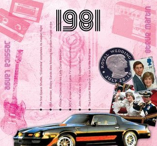 Kaart en CD geboortejaar 1981