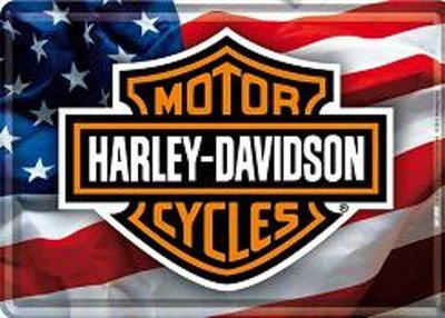 Metal Card 10 x 15cm - Harley Davidson - NA 10120