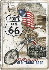 Metal Card 10 x 15cm -Route 66 - NA 10117