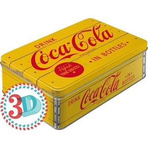 Coca-Cola: Tin Box geel