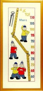 borduurpakket buurman en buurman, groeimeter/meetlat