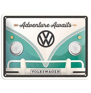 VW Adventure Awaits 15 x 20 cm