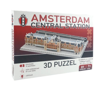 Amsterdam Central Station 3D puzzel