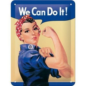 Tin Sign 15x20 We Can Do It