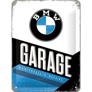 Tin Sign 15x20 BMW Garage