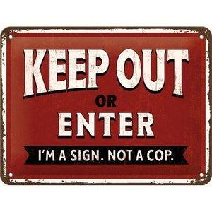 Tin Sign 15x20 Keep Out