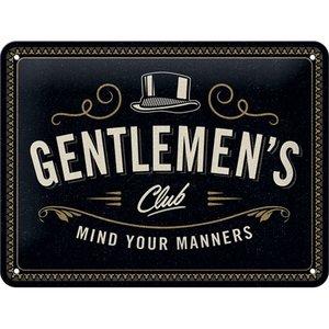Tin Sign 15x20 Gentlemens Club