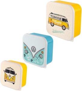 Volkswagen set van 3 lunchboxen kleur geel